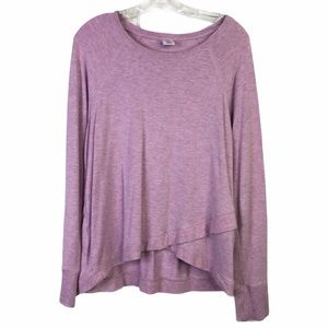 ACTIVE LIFE Heathered Soft Top Purple Pink XL